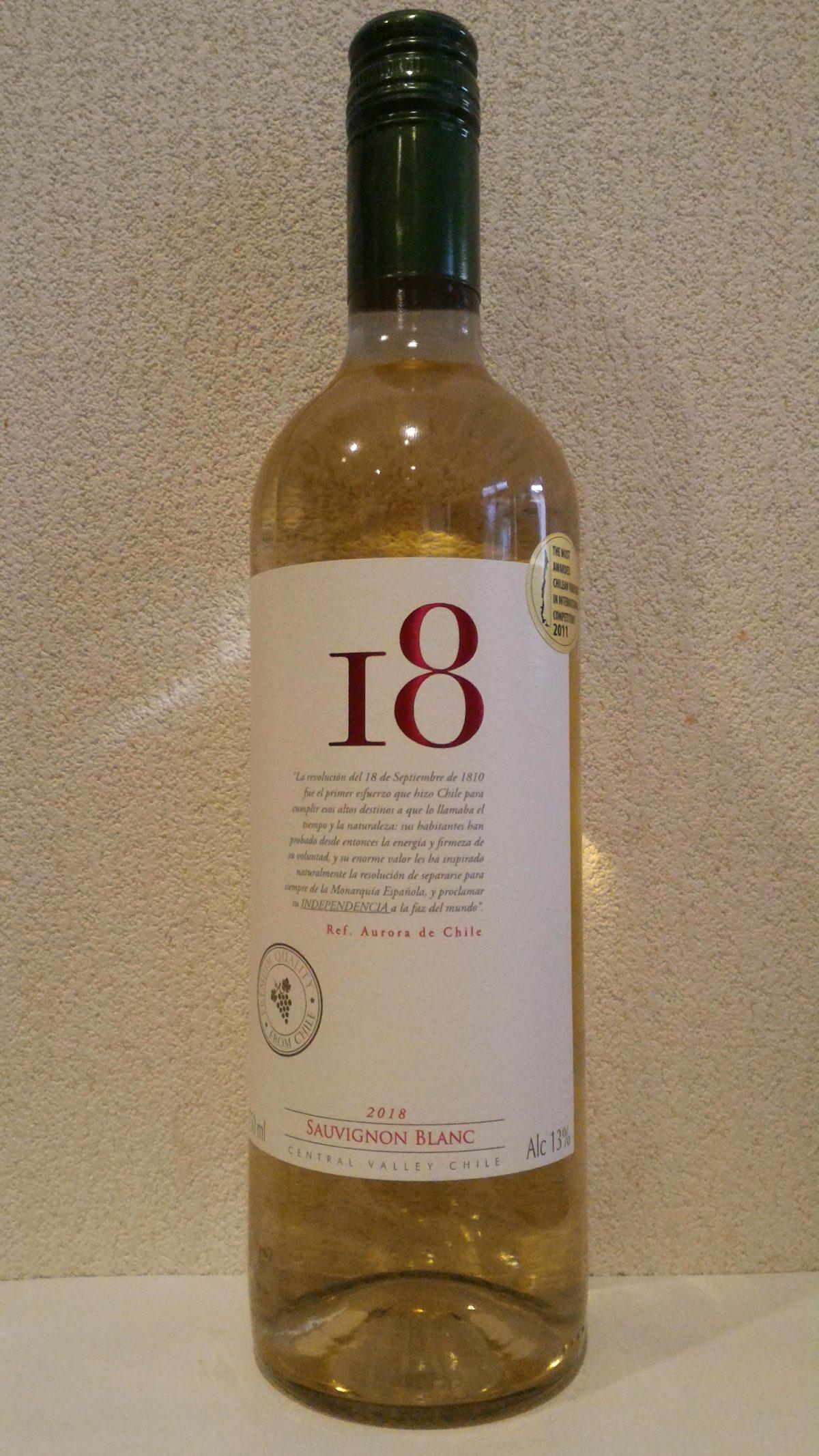 1000円以下で愉しむワイン「エイティーン ソーヴィニヨンブラン」