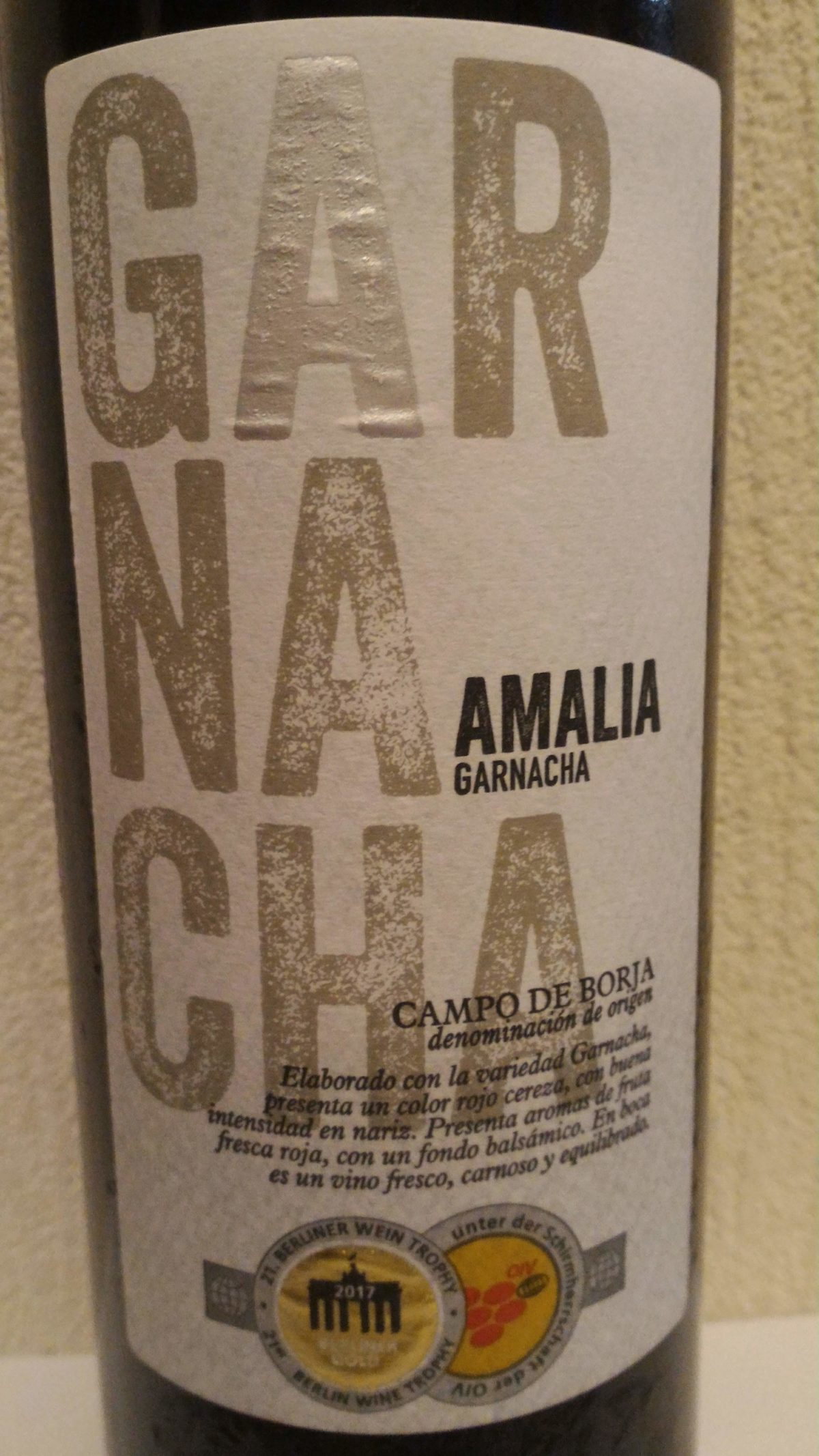 高コスパの豊かな果実味ワインを飲みたい時「アマリア・ガルナッチャ」